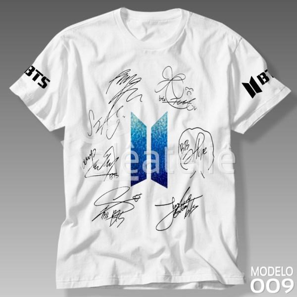 Camiseta Bts Autografada