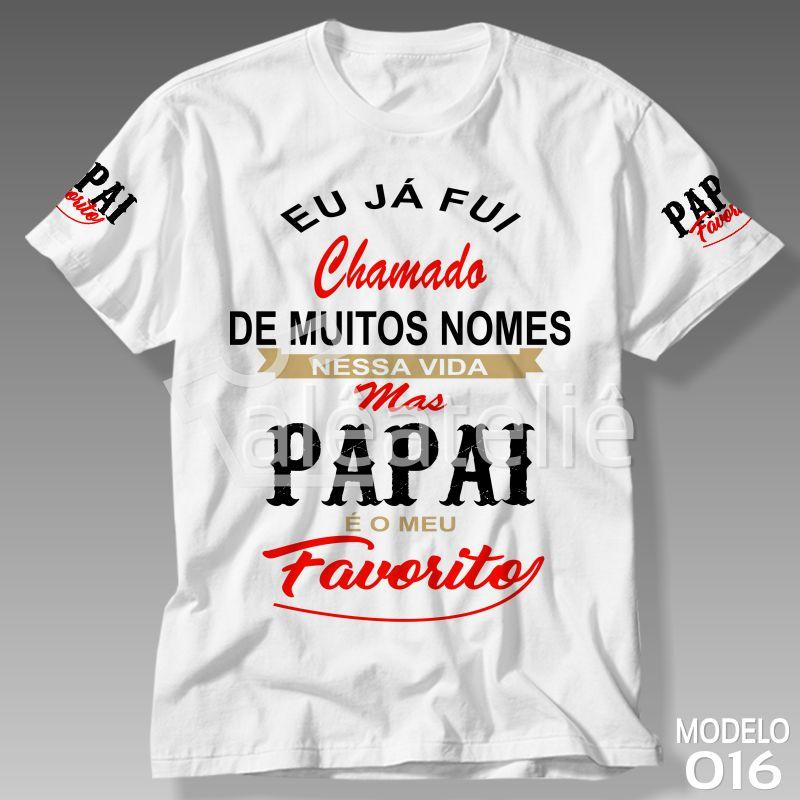 Camiseta Dia Dos Pais I Love Personalizada Camisa Alê Art Designer