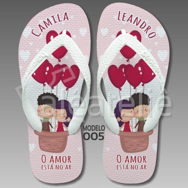 Sandália Dia dos Namorados Personalizada