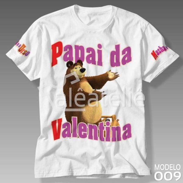 Camiseta Masha Urso Papai