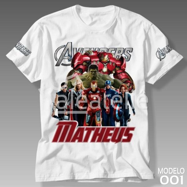 Camiseta Vingadores Personalizada