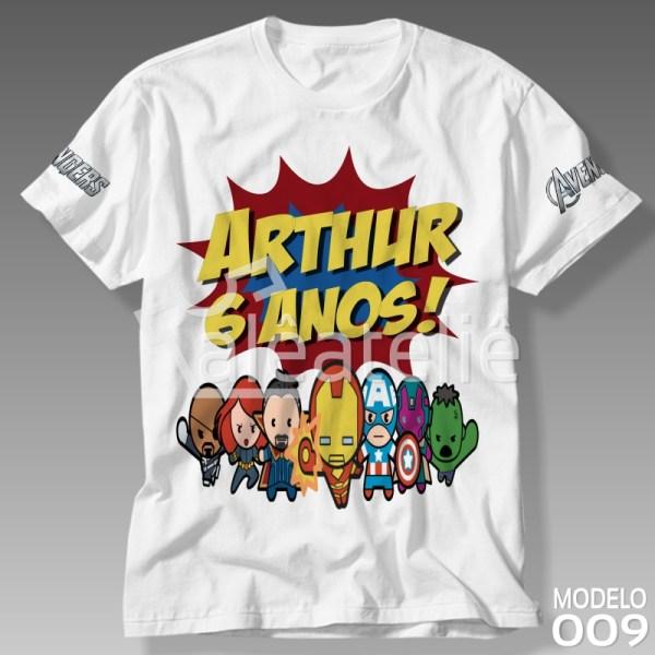 Camiseta Vingadores Baby Personalizada