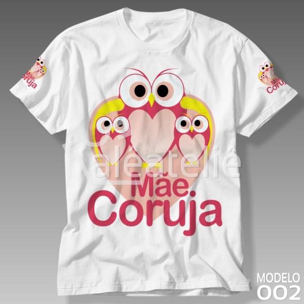 Camiseta Dia das Mães Coruja
