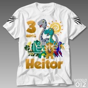 Camiseta Dinossauro Festa
