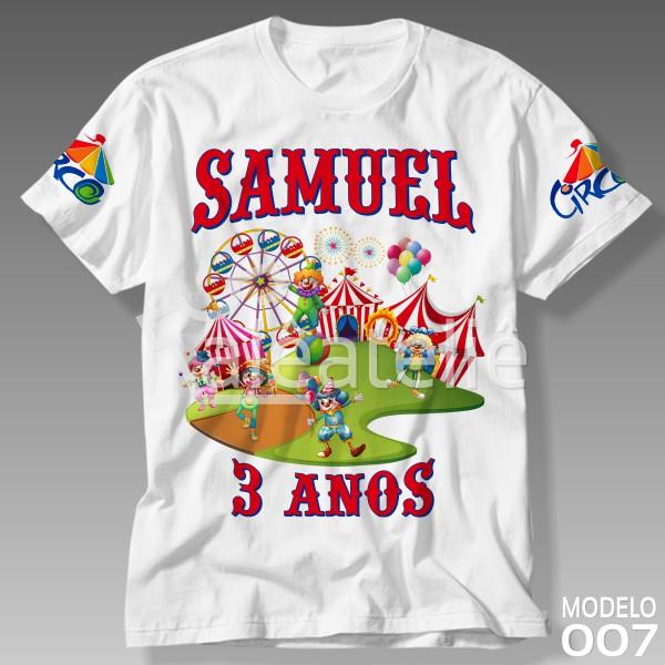 Camiseta Tema Circo