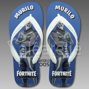Chinelo Fortnite Skull Trooper
