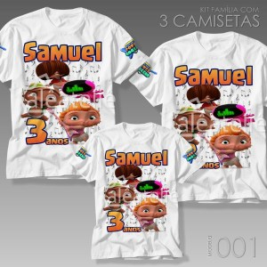 Kit 3 Camisetas Mini Beat Power Rockers 001