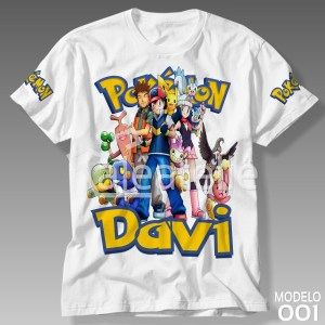 Camiseta Pokemon 001
