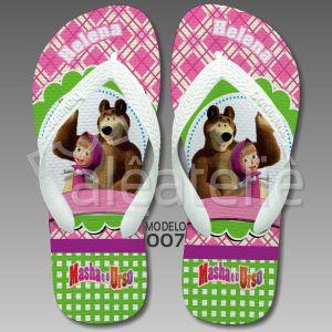 Chinelo Personalizado Masha Urso