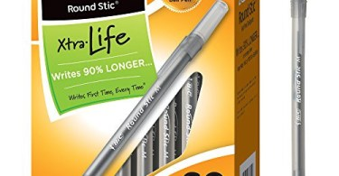 Alea's Deals BIC Round Stic Xtra Life Ballpoint Pen, Medium Point (1.0mm), Black, 60-Count Up to 61% Off! Was $12.85!