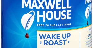Alea's Deals Maxwell House Wake Up Roast Medium Roast Ground Coffee (30.65 oz Canister)  – 44% PRICE DROP+SUB/SAVE!