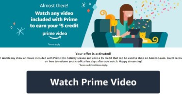Alea's Deals FREE $5 Amazon Credit When You Stream ANY Video Included w/ Prime