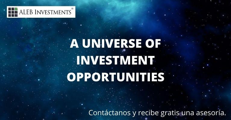 Un universo de oportunidades de inversión.