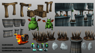 Assets for an Unreleased 3D Platformer style game.