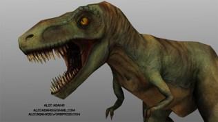 Low Poly T-Rex close up.