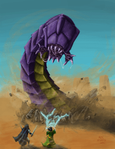 Dungeons and Dragons inspired art work.
