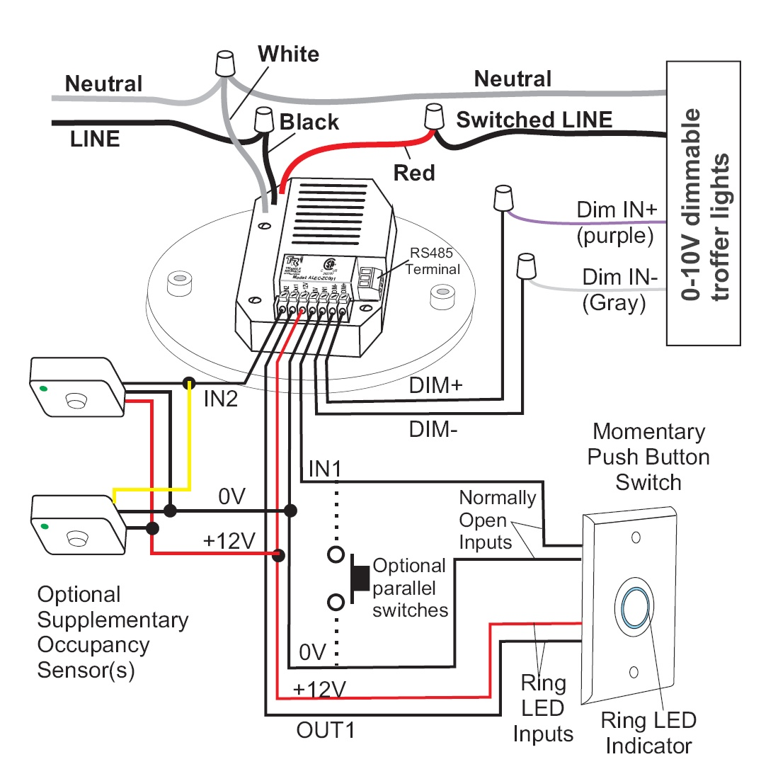 Wiring Diagrams Occupancy Sensor Ceiling Occupancy Sensor