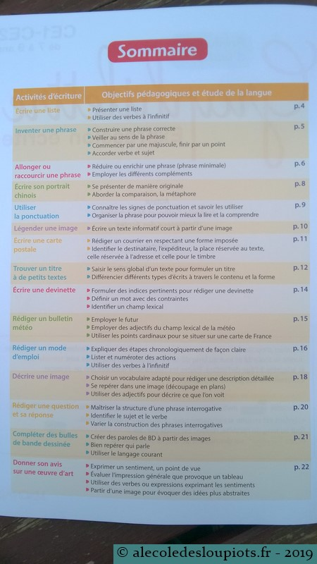 Graphilettre - sommaire 1