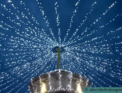 Libourne-Ciel illuminé de la place Abel Surchamp