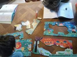 Français (Cléo), maths (Litchi) et puzzle 25 pièces (Londji)