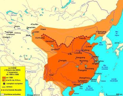 Tracé de la Grande muraille de Chine