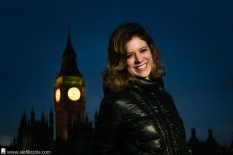 Photo Tour around London. Portraits: Lara. The Big Ben. Winter 2017. Photo: Alessandro Filizzola