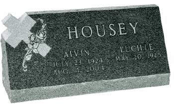 slant memorial headstone