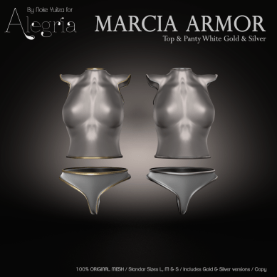 ALEGRIA Marcia Armor Top and Panty White