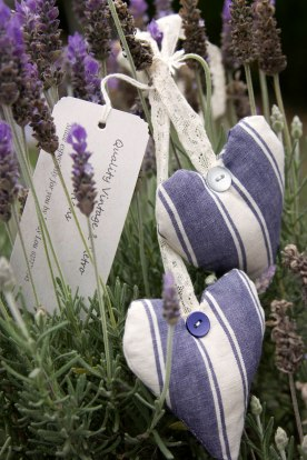 photo of home-made lavender hearts