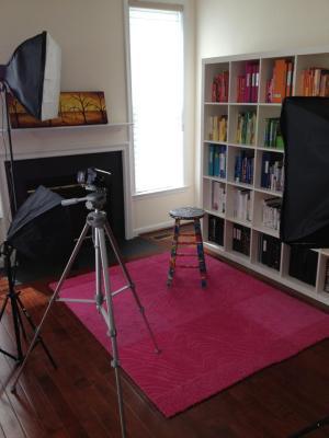organizing coded books bookshelf studio rainbow organization office alejandra organized filming according organize bookshelves organising