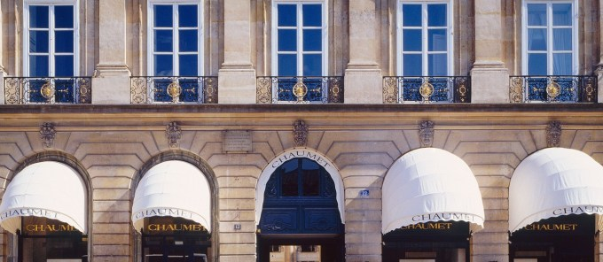 The Chaumet private mansion, Place Vendôme.