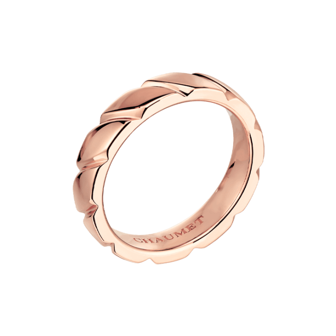 "Men's wedding band, ""Torsade""."