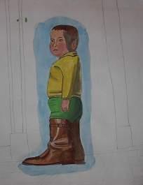 El niño con botas