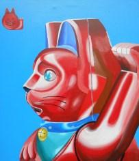 Gato rojo - 70x80 - 2015 - Técnica: acrílico sobre tela - Por Alejandro Fidias Fabri