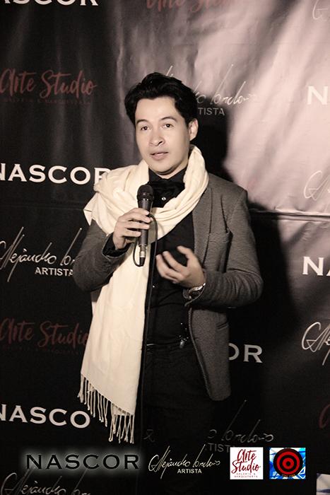 Alejandro Londoño en el acto de inauguración de Nascor
