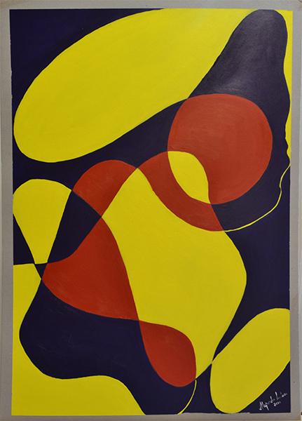 Título: Indicios 1 de 4 Serie: Indicios Técnica: Acrílico sobre cartón Medidas: 50x70cm Artista: Alejandro Londoño Año: 2016