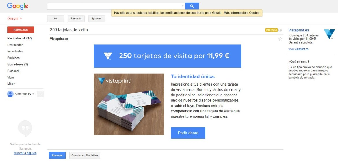 ejemplo expanded gmail ads