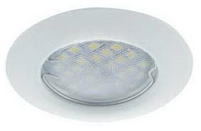 Ecola выпуклый-белый + лампа 7 Ватт Image