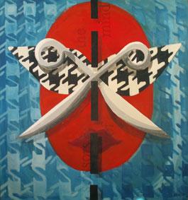 Big Scissors by Aleksandra Smiljkovic Vasovic aleksandraartworkcom