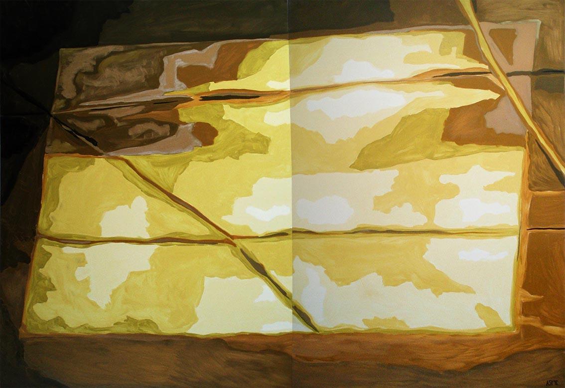 Reflection of Golden Room Painting by Aleksandra Vasovic