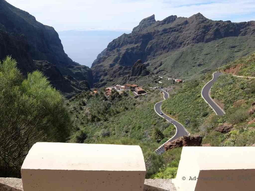 Pogled na dolino Masce, Tenerife, Španija. Aleksej Dolinšek trener kolesarstva