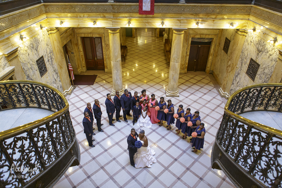 Monroe County Office Building Rochester Wedding Photography