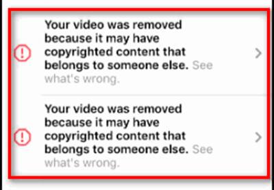 Почему инстаграм блокирует видео при загрузке