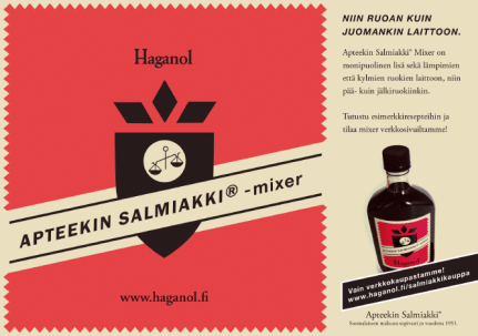Haganol-mainontaa