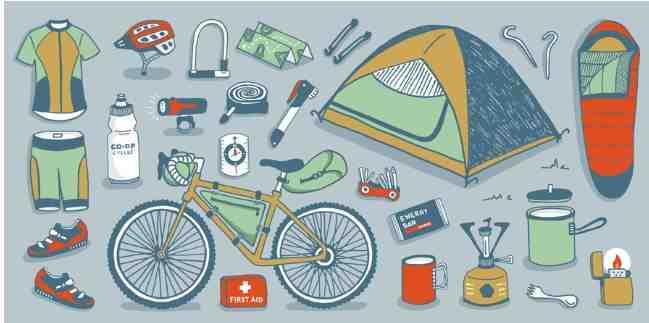 Контрольный список для велосипедной упаковки