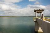 A barragem de Tucutu cheia com águas do velho Chico.