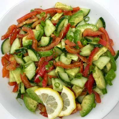 Fresh Bell Pepper & Avocado Salad