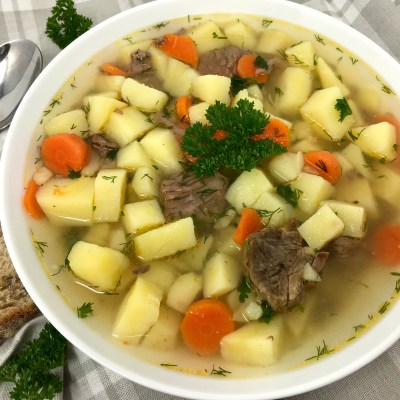 Super Simple Soup with beef meat