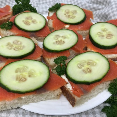 Cold Salmon Canapes