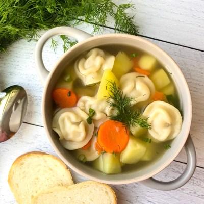 Dumplings Soup / Soup with Pelmeni
